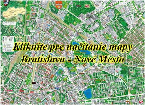 Interaktívna maľovaná mapa Bratislava - Nové Mesto