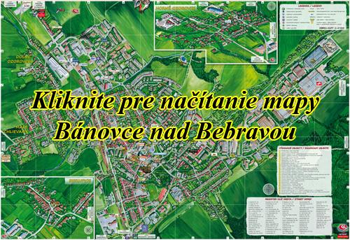 Interaktívna maľovaná mapa Bánovce nad Bebravou