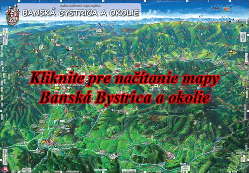 Interaktívna maľovaná mapa Banská Bystrica a okolie