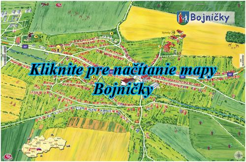 Interaktívna maľovaná mapa Bojničky