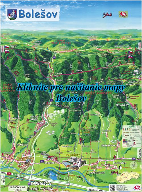 Interaktívna maľovaná mapa Bolešov