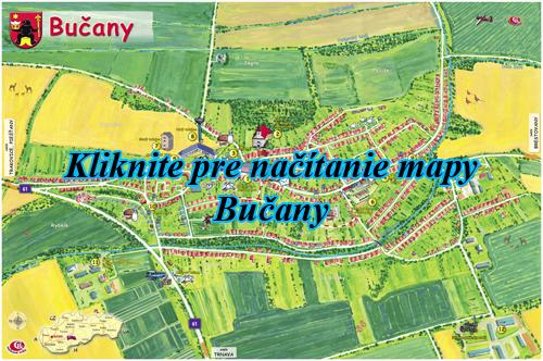 Interaktívna maľovaná mapa Bučany