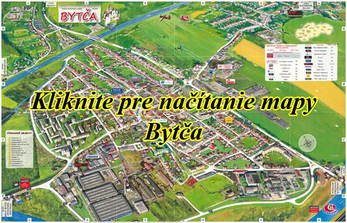 Interaktívna maľovaná mapa Bytča
