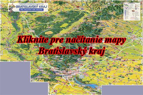 Interaktívna maľovaná mapa Bratislavský kraj