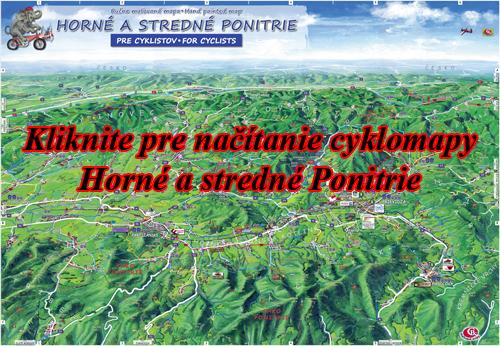 Interaktívna maľovaná mapa Horné a stredné Ponitrie