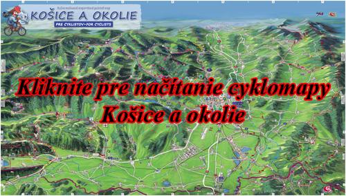 Interaktívna maľovaná mapa Košice a okolie