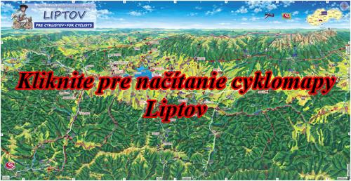 Interaktívna maľovaná mapa Liptov