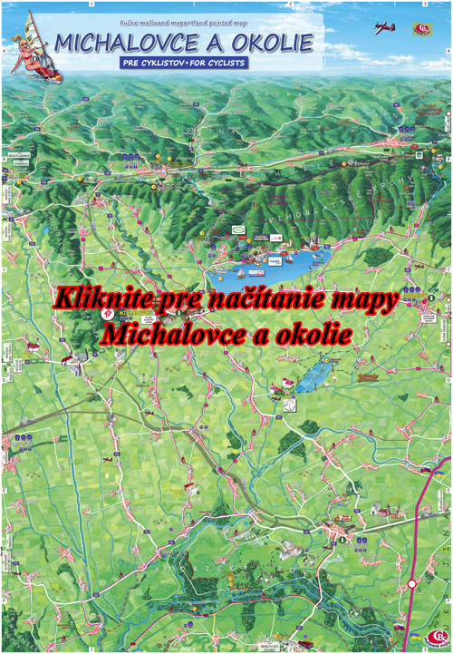 Interaktívna maľovaná mapa Michalovce a okolie