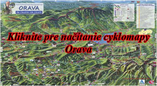 Interaktívna maľovaná mapa Orava