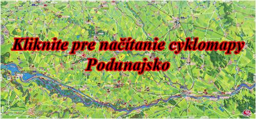 Interaktívna maľovaná mapa Podunajsko