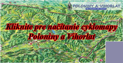 Interaktívna maľovaná mapa Poloniny a Vihorlat