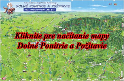 Interaktívna maľovaná mapa Dolné Ponitrie a Požitavie