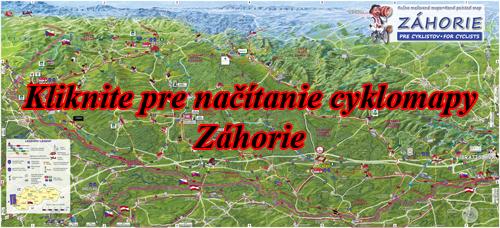 Interaktívna maľovaná mapa Záhorie