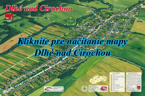 Interaktívna maľovaná mapa Dlhé nad Cirochou