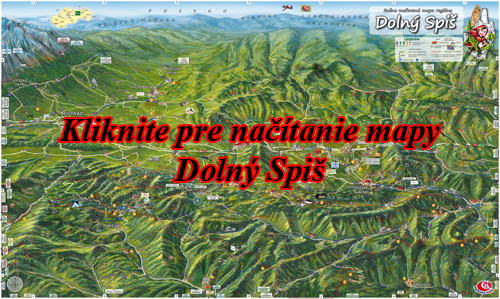 Interaktívna maľovaná mapa Dolný Spiš