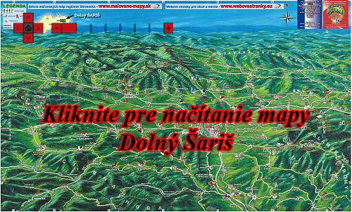Interaktívna maľovaná mapa Dolný Šariš