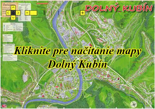 Interaktívna maľovaná mapa Dolný Kubín