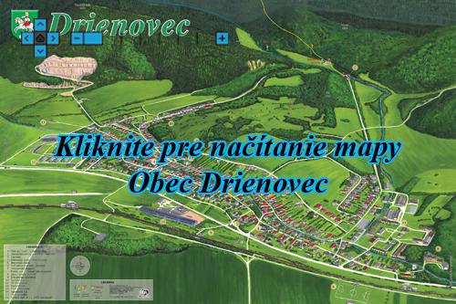 Interaktívna maľovaná mapa Drienovec