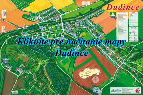 Інтерактивна мальована мапа міста Dudince