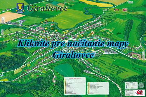 Interaktívna maľovaná mapa Giraltovce