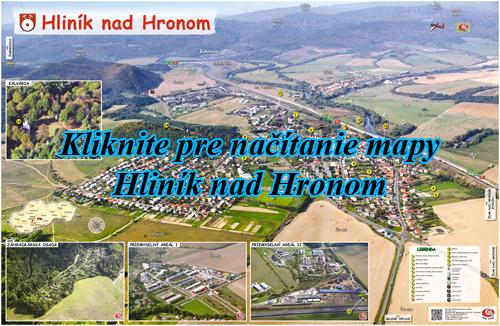 Interaktívna maľovaná mapa Hliník nad Hronom