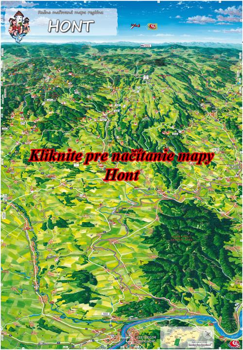 Interaktívna maľovaná mapa Hont