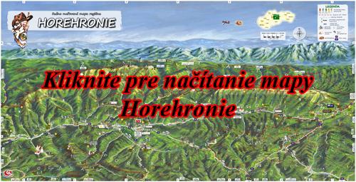 Interaktívna maľovaná mapa Horehronie