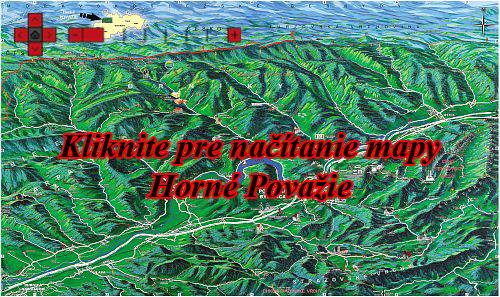 Interaktívna maľovaná mapa Horné Považie