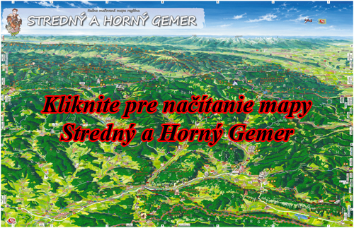 Interaktívna maľovaná mapa Stredný a Horný Gemer