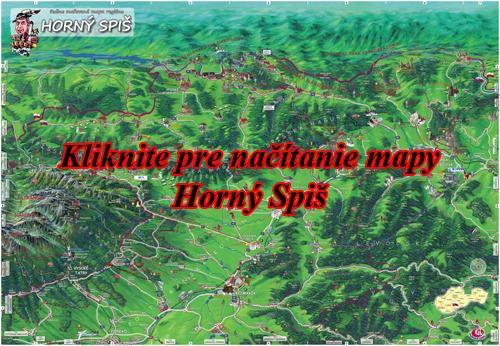 Interaktívna maľovaná mapa Horný Spiš