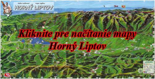 Interaktívna maľovaná mapa Horný Liptov