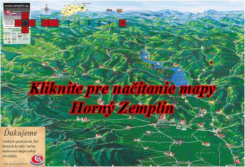 Interaktívna maľovaná mapa Horný Zemplín