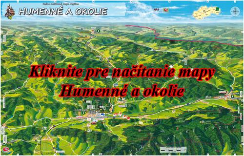 Interaktívna maľovaná mapa Humenné a okolie