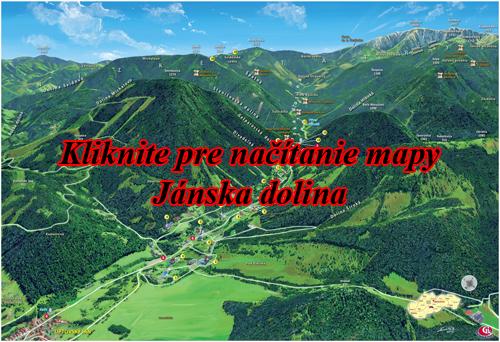 Interaktívna maľovaná mapa Jánska dolina