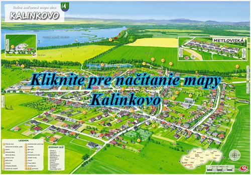 Interaktívna maľovaná mapa Kalinkovo