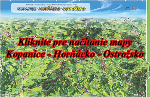 Interaktívna maľovaná mapa Kopanice - Horňácko - Ostrožsko
