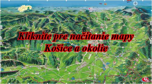 Interaktívna maľovaná mapa Košice aokolie