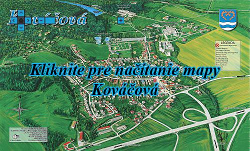 Interaktívna maľovaná mapa Kováčová