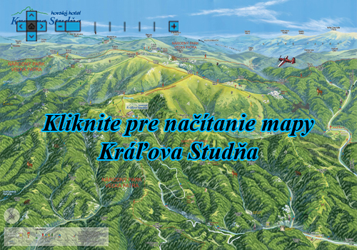 Interaktívna maľovaná mapa Kráľova Studňa