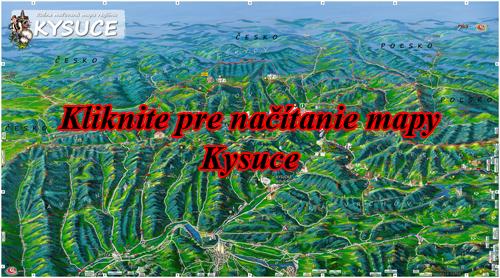 Interaktívna maľovaná mapa Kysuce