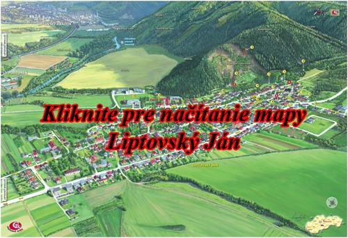 Interaktívna maľovaná mapa Liptovský Ján