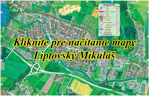 Interaktívna maľovaná mapa Liptovský Mikuláš