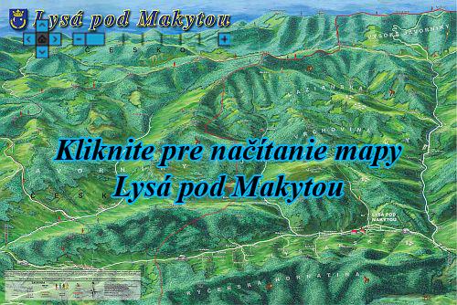Interaktívna maľovaná mapa Lysá pod Makytou