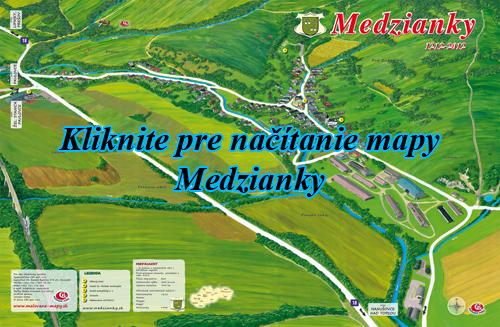 Interaktívna maľovaná mapa Medzianky