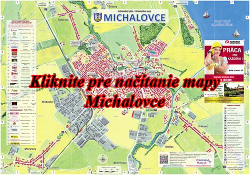 Interaktívna maľovaná mapa Michalovce