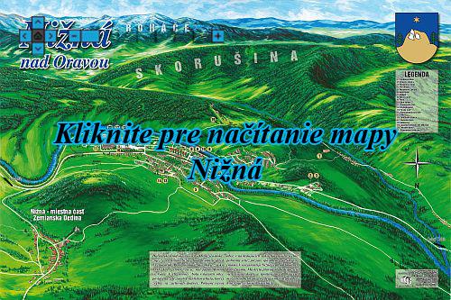 Interaktívna maľovaná mapa Nižná nad Oravou