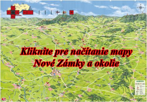 Interaktívna maľovaná mapa Nové Zámky a okolie