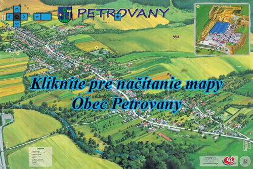 Interaktívna maľovaná mapa Petrovany
