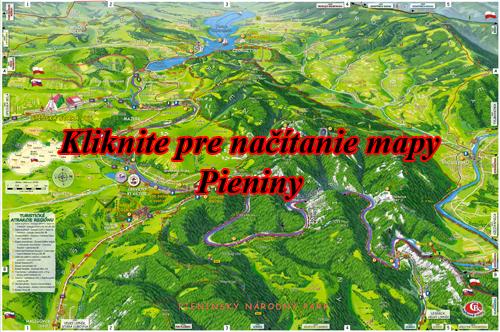 Interaktívna maľovaná mapa Pieniny