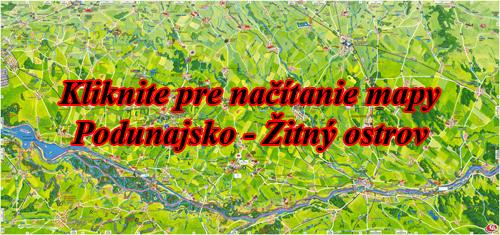 Interaktívna maľovaná mapa Podunajsko - Žitný ostrov